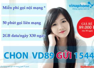 Cách đăng ký gói cước VD89 siêu ưu đãi của vinaphone