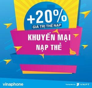 Khuyến mãi nạp thẻ vinaphone tặng 20% ngày 21/12/2018