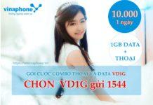 Gói combo thoại và DATA VD1G vinaphone