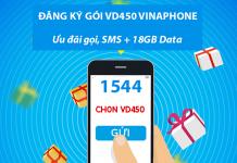 Cách đăng ký gói cước VD450 Vinaphone