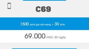 Cách đăng ký gói cước C69 Vinaphone