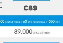 Cách đăng ký gói cước C89 Vinaphone