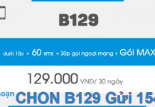 Cách đăng ký gói B129 Vinaphone gọi thoải mái nội mạng.