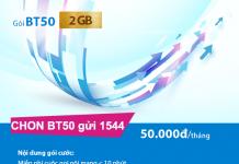 Cách đăng ký gói cước BT50 Vinaphone