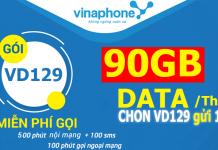 Cách đăng ký gói cước VD129 VINAPHONE