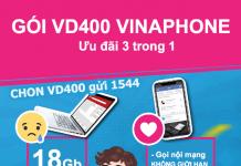 Cách đăng ký gói cước VD400 Vinaphone