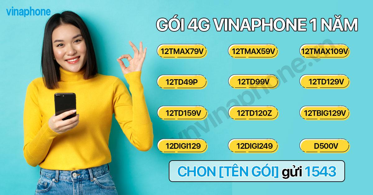 Cú pháp đăng ký gói 4G VinaPhone 1 năm