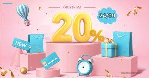 VinaPhone khuyến mãi 20% nạp thẻ ngày 24/09/2021